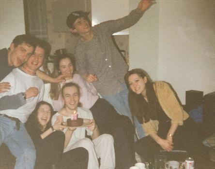 18th March 1993 - Paul's 21st birthday, celebrating with friends
