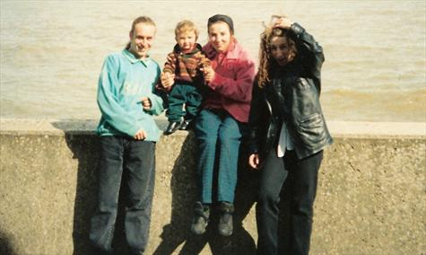 11th April 1993 - Luey's son Ben's 1st birthday, on the seafront at Clacton on Sea