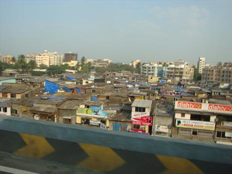 Dharavi slum in the heart of Mumbai covers less than a square mile and houses up to a million people