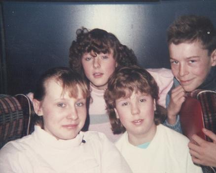 Paul with Nicola, Michelle and Sharyn.