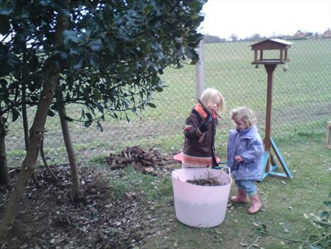 Harry and Alix in the garden