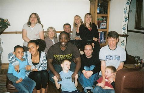 """January 2007 - A family """"get together"""" at sister Tracey's house near Brentwood"""