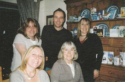 January 2007 - Paul with mum Jill and sisters Karin, Tracey and Nicola