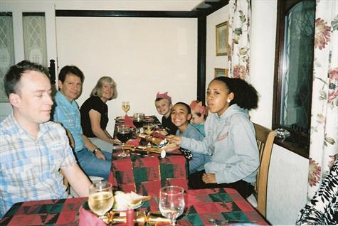 Christmas Day 2007 at sister Tracey's house in Clacton