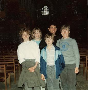 April 1985 - Inside Winchester Cathedral - Away 'weekender'
