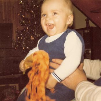 Christmas Day 1972 - Paul with Granny