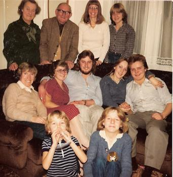 Christmas Day 1979 - A family group