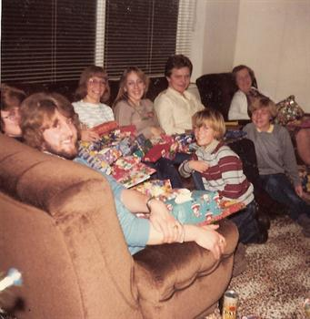 Christmas Day 1981 - A family group at Jill's house