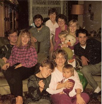Christmas Day 1985 - A family group at Paul's Uncle Kevin's house