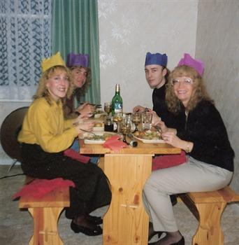 Christmas Day 1990 - Lunch at 9 Key Road, Clacton on Sea
