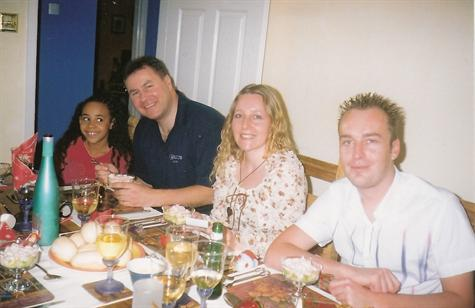 Christmas Day 2002 - Lunch at sister Nicola's house in Colchester