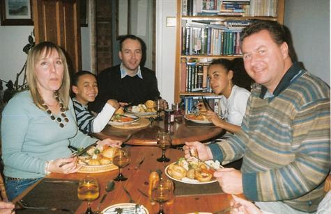 Christmas Day 2006 - Lunch at Paul's mum Jill's house