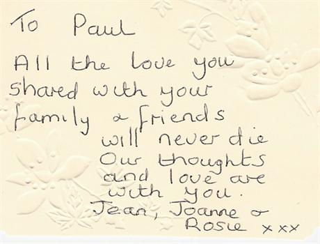 Jean's message to Paul