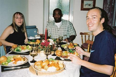 Christmas Day 2001 - Lunch at Paul's mum Jill's house