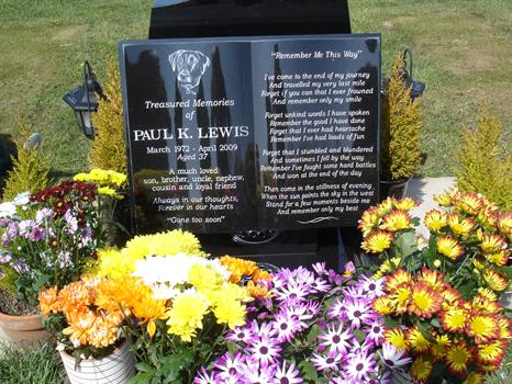 """Paul's """"special"""" stone - a tribute to his memory"""