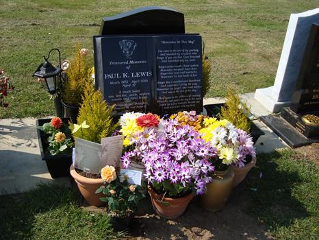 """""""Paul's Day"""", 14th May 2010 - Beautiful flowers from family and friends"""