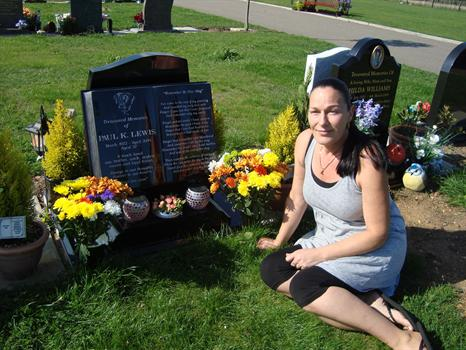 31st August 2010 - Clair brought flowers for Paul