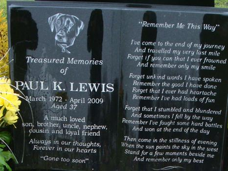 Paul's beautiful 'Poetry Book' memorial, gently washed by the rain - 6th January 2011