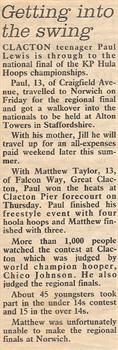 Text from the East Essex Gazette newspaper cutting  (click to enlarge)