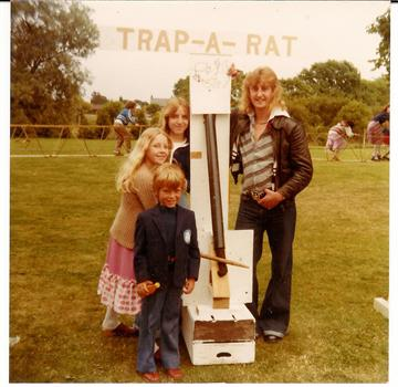 August 1978 - Paul with Tracey, Nicola and Uncle Kevin at Great Holland Village Fete