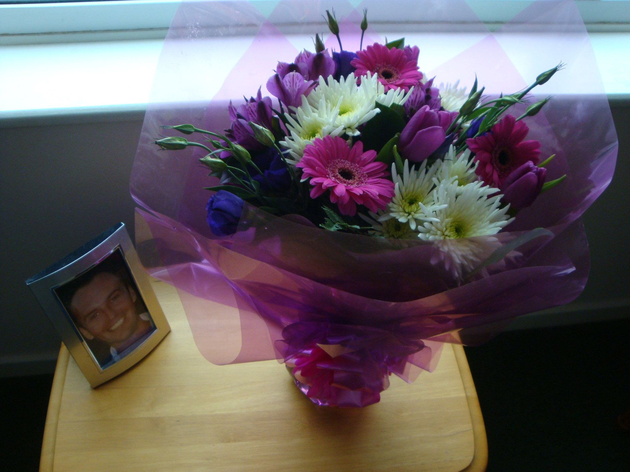Beautiful flowers for Paul's 40th birthday from his friend  Luey