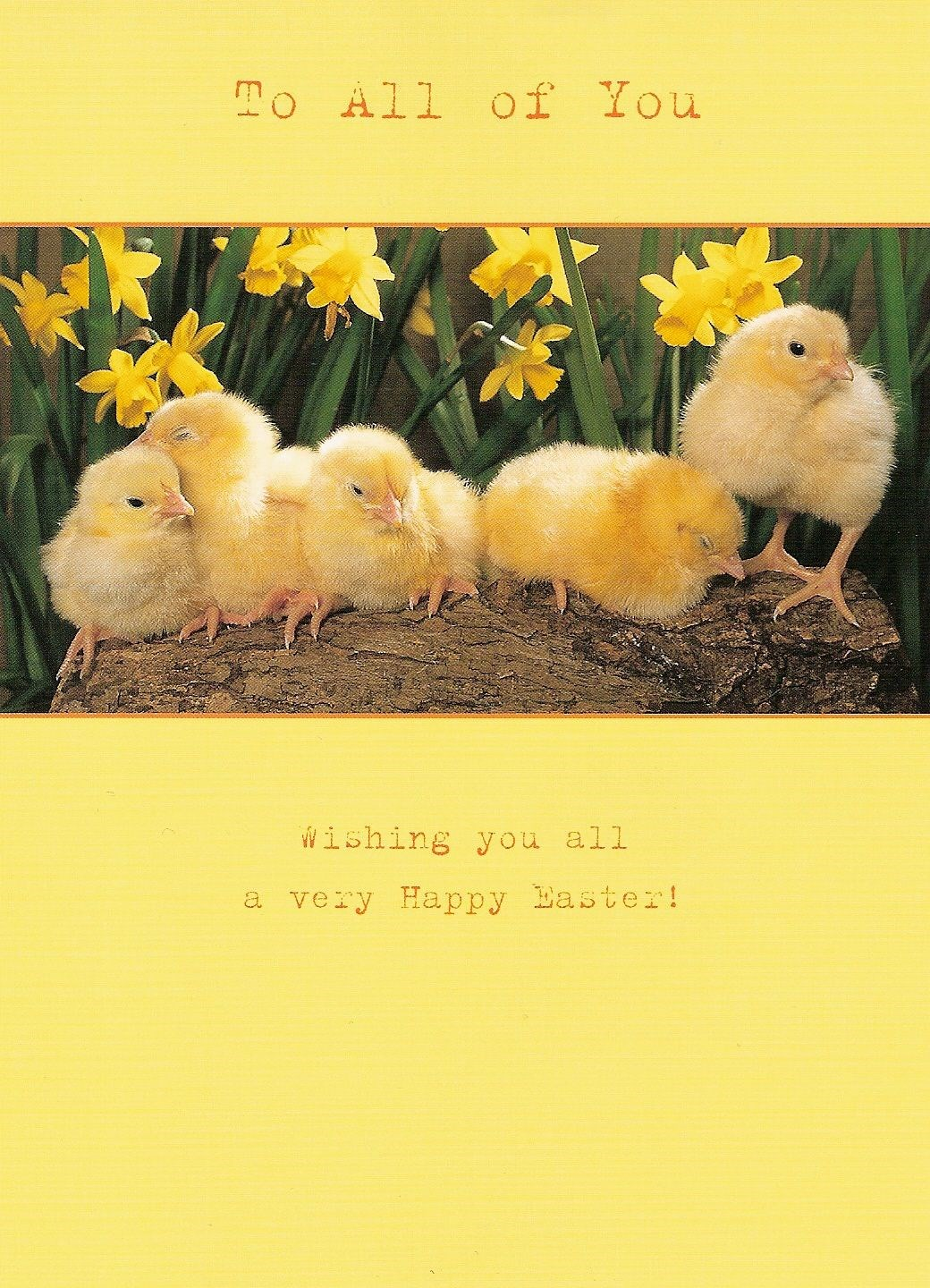 A pretty Easter card to Paul's family from Clair, Trina and families