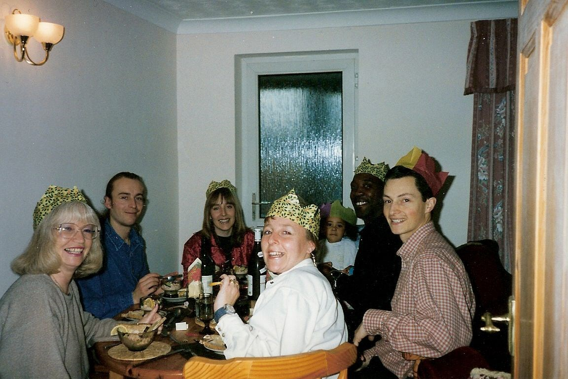 Christmas Day 1996 - Lunch at Paul's mum Jill's house
