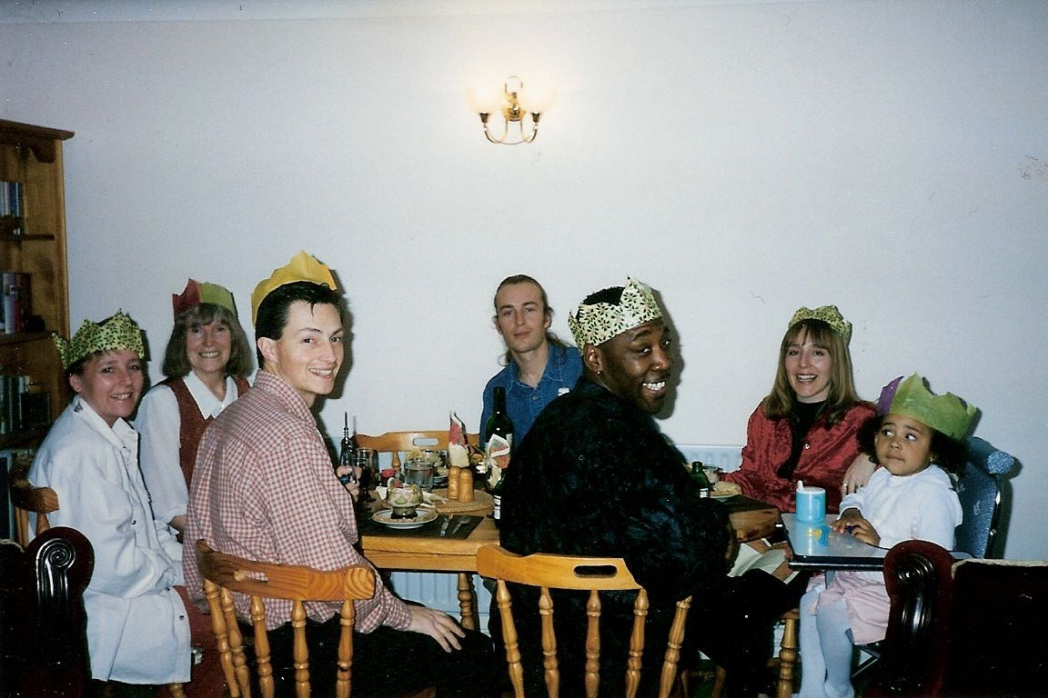 Christmas Day  1996 - Lunch at Jill's house
