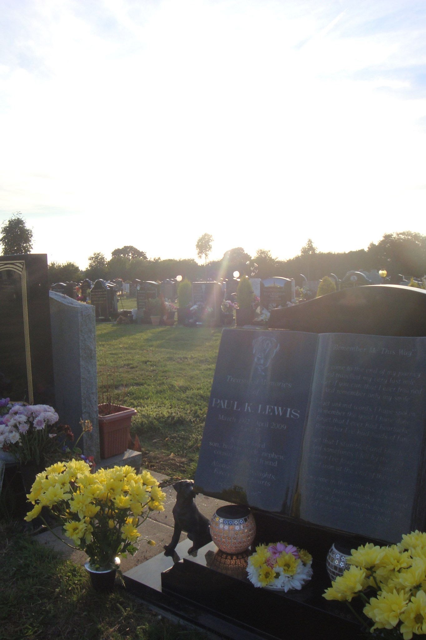 The early evening sun shines on Paul's spot - 29th August 2013