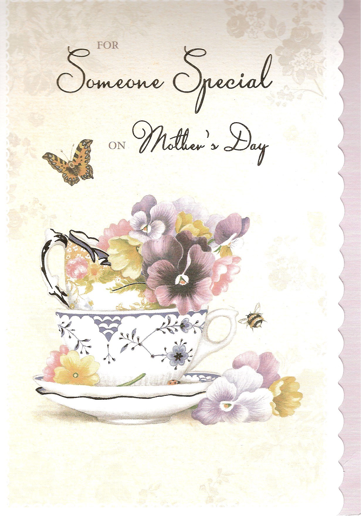 My lovely Mother's Day card from Clair and Tshequa x