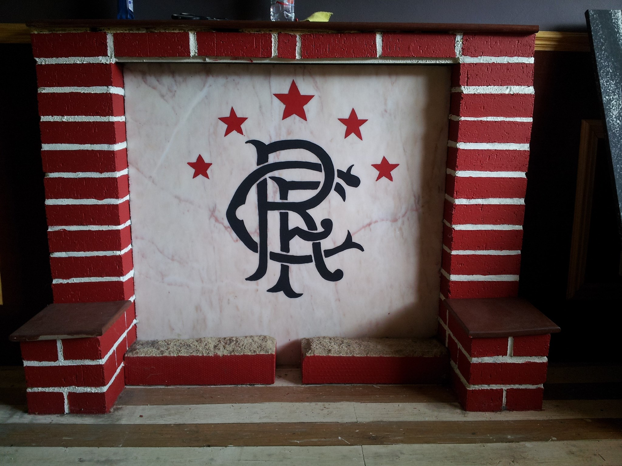 Brexy's artistic work (Fireplace)