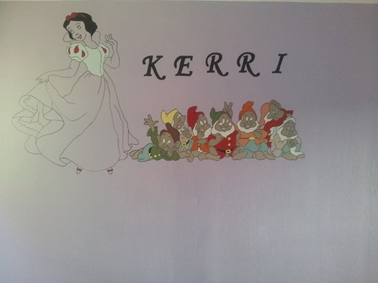 Brexy's artistic work (Bedroom wall)