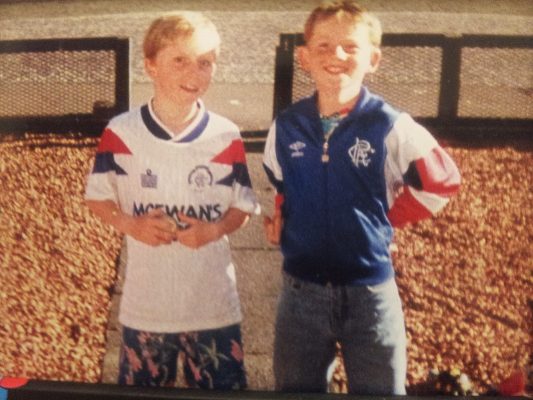 Approx primary 5 with Graeme 'Kermit' Lynn