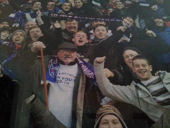 Brexy in the crowd Hibs v Irvine Meadow Scottish Cup Jan 2010