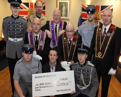 Cheque presentation for £7,074