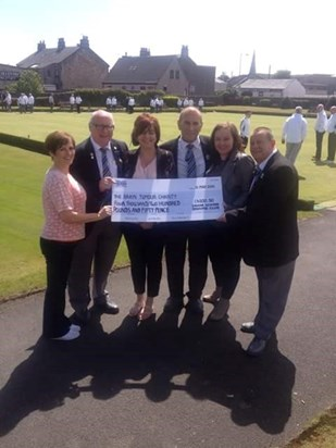 Irvine Winton Bowling Club raised an amazing £4,200.50 throughout the year.