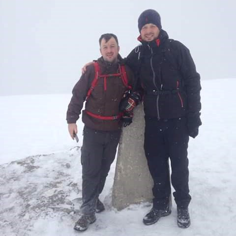 Gregor & Craig at the top of Ben Nevis. Raising £1.587.50 along the way.