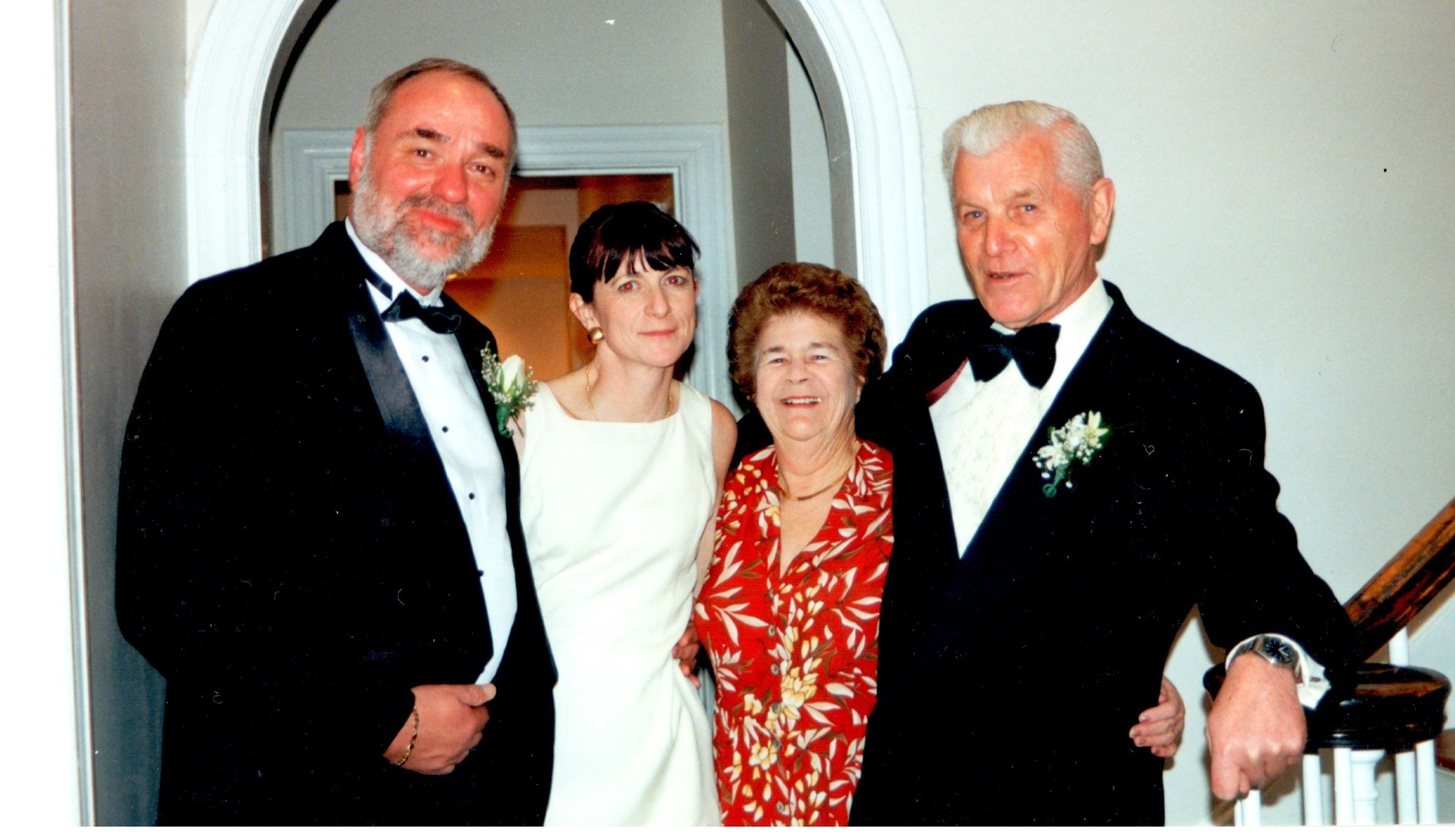 Mum & Dad looking so happy with the newly married couple - Eli and Michael's Wedding 99