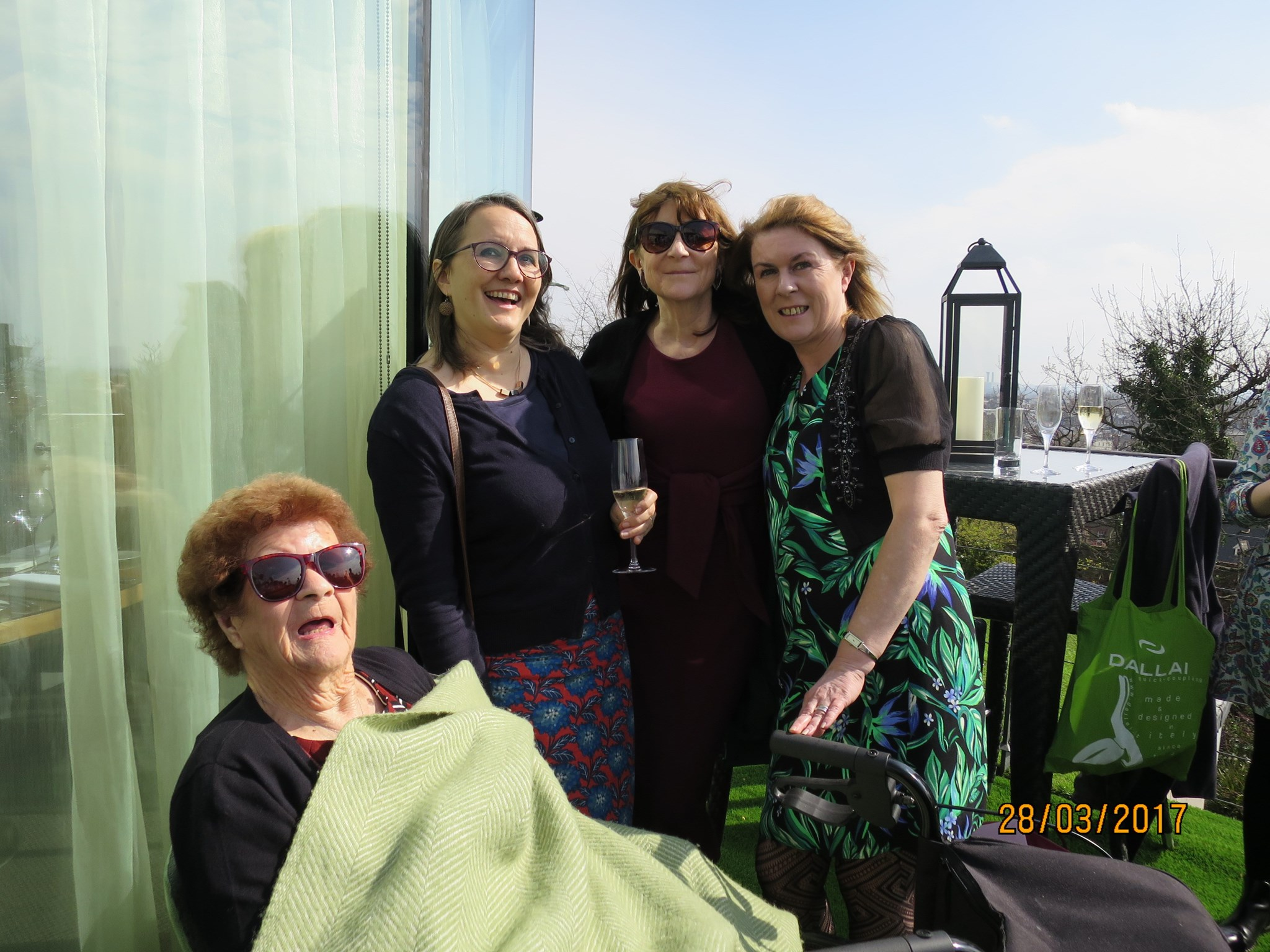 Party Girls celebrating 90 years of life at the Roof Top Gardens