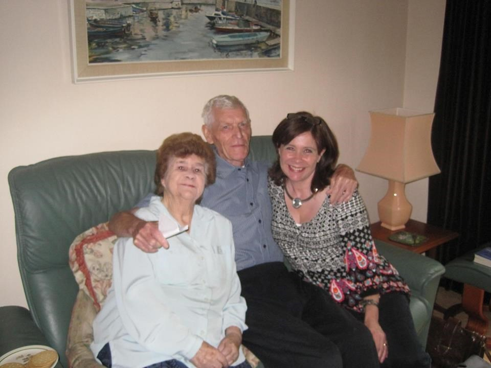 Mum & Dad with Niece Loraine celebrating the birth of her grandson Caolan