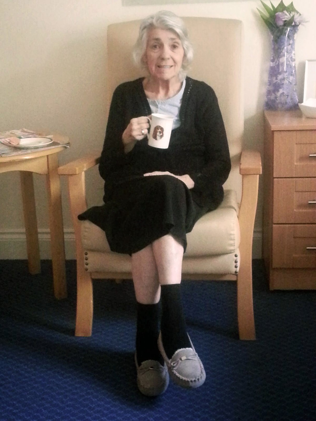 Mum having a 'Lovely cup of tea'