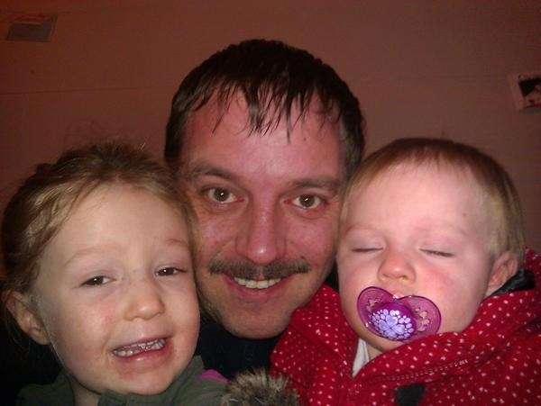 Two days left of Movember, Dad will be sooo proud of his son and gorgeous granddaughters!