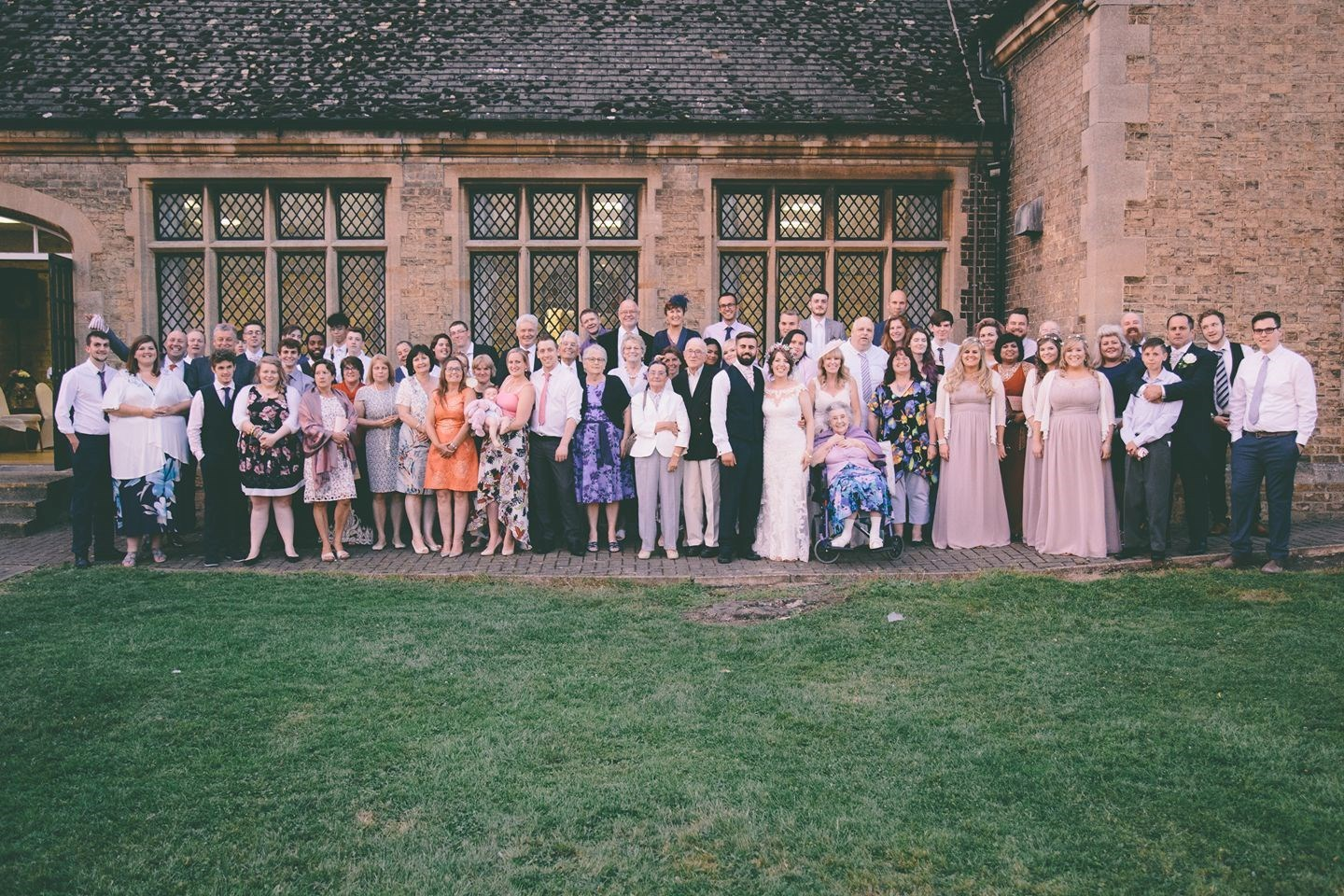 Chris and Esther's wedding. Jackie and stuart right in the centre x