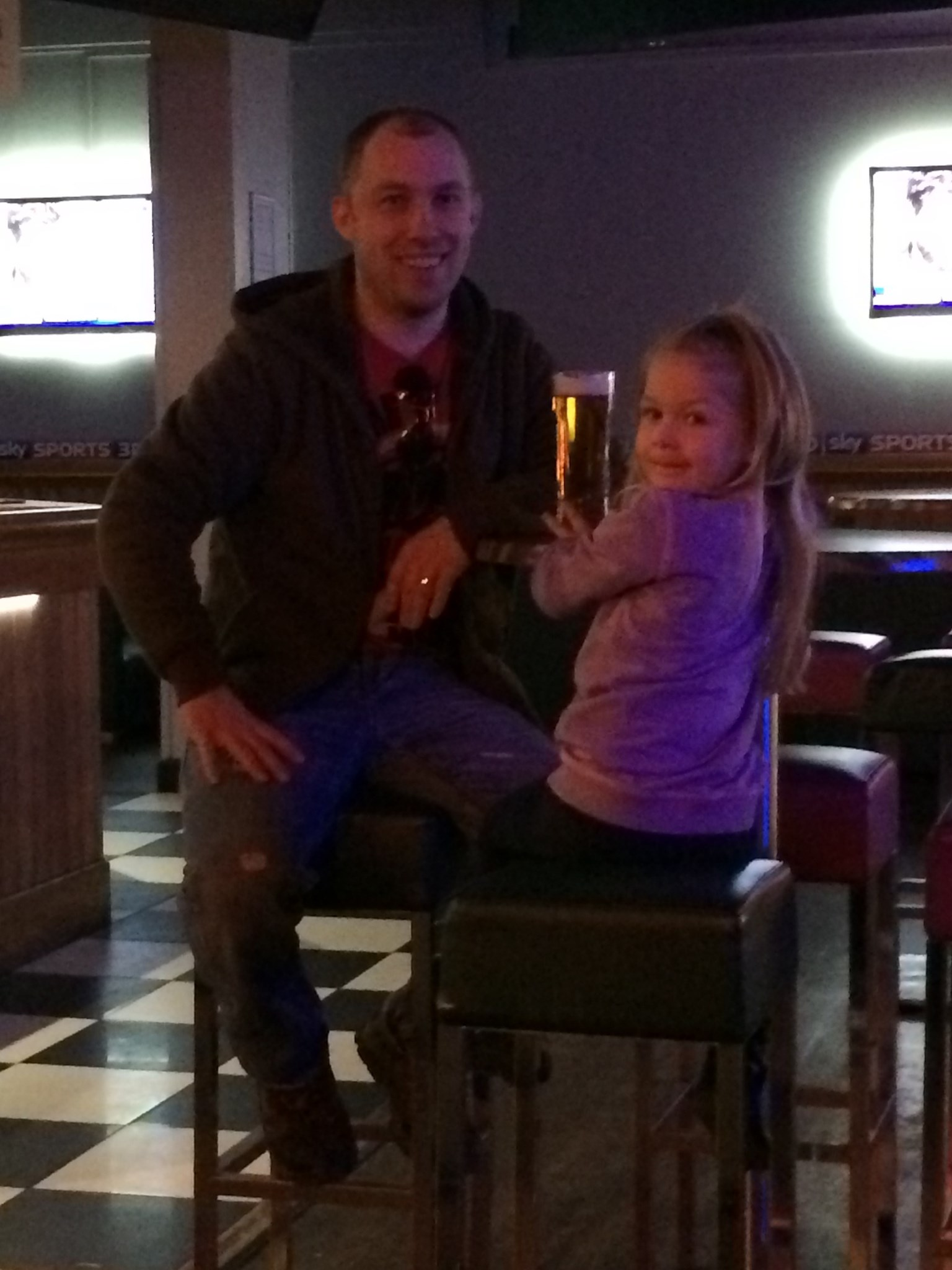 Dave with our beautiful daughter
