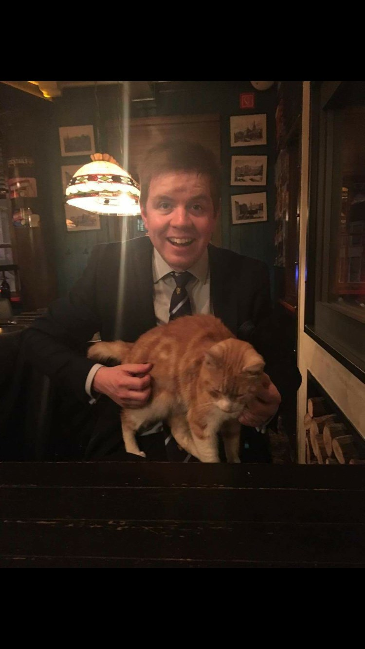 Giddings in a cat cafe