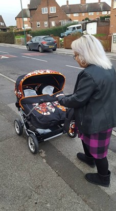 1st time out in their pushchair