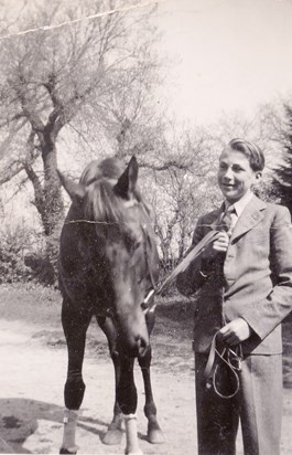 """William with """"Mirial 2"""" taken around aged 19 probably at Epsom during his apprenticeship there."""