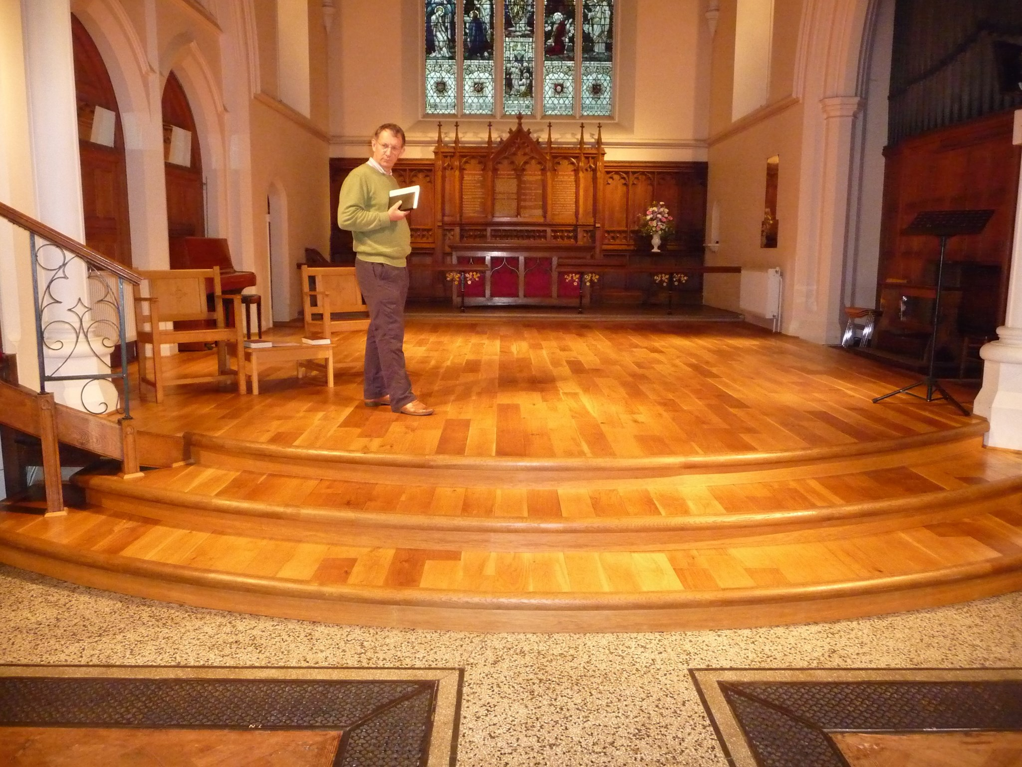 June 2013 In preparation for re-ordering St Mary's Fetcham