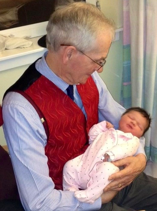 Dad holding lily the day she was born I sure you cuddling him while he holds her xx
