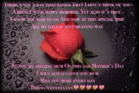 2nd Mother's Day without you mum and not getting any easier to bear love xxxxxxxxxx?????